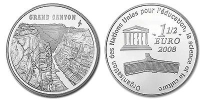 Grand Canyon 2008 France Coin
