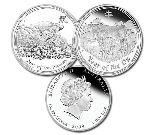 Australia Lunar Coins