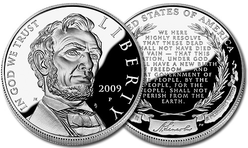 The 2009 Abraham Lincoln Commemorative Silver Proof Dollar Coin