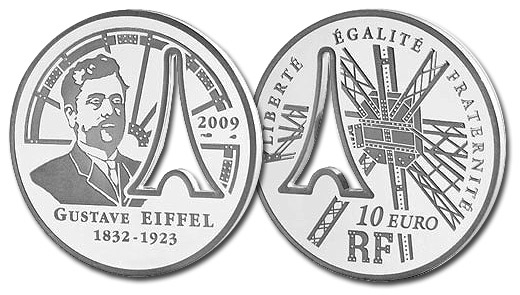 The 2009 Eiffel Tower Silver Proof 10 Euro Coin