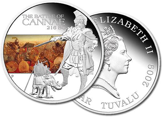 Cannae 2009 silver proof Australia coin