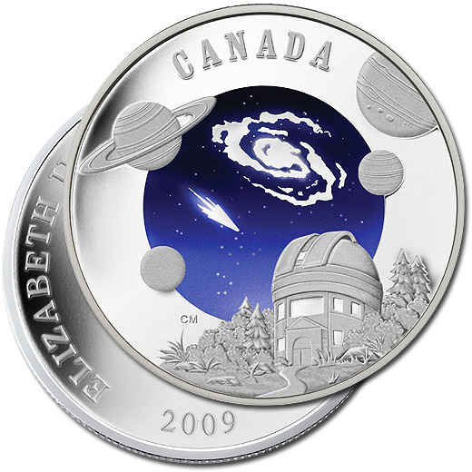 The 2009 International Year of Astronomy Silver Proof Dollar Coin from Canada