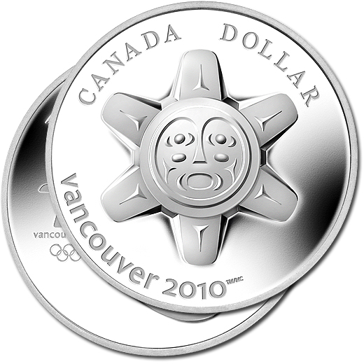 The Sun Limited Edition 2010 Silver Proof Ultra-High Relief Coin from Canada