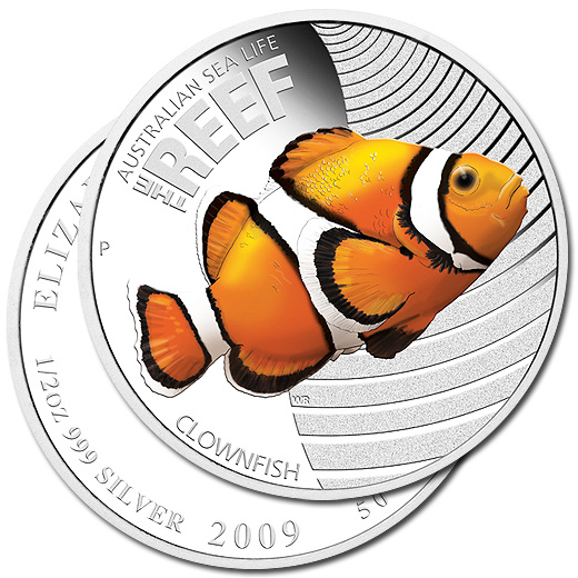 The 2010 Clownfish Silver Proof Coin from Australia