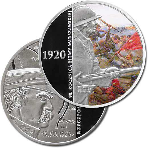 The 90th Anniversary of the Battle of Warsaw 2010 Silver Proof Coin from Poland
