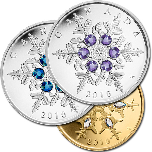 The 2010 Snowflake Silver and Gold Proof Coins from Canada