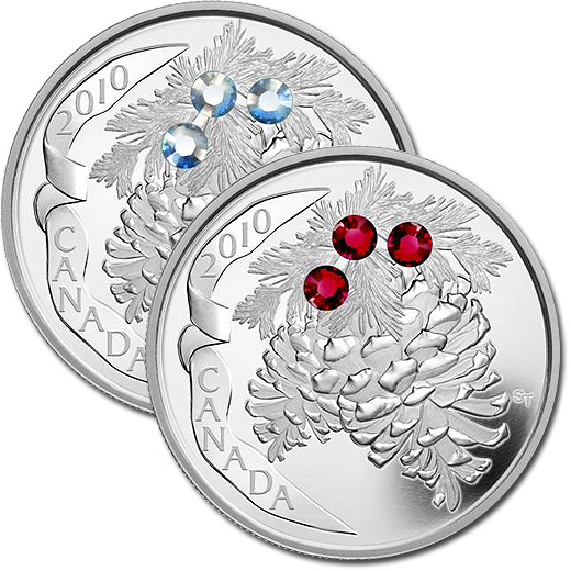 The 2010 Pine Cones Silver Proof Coins from Canada