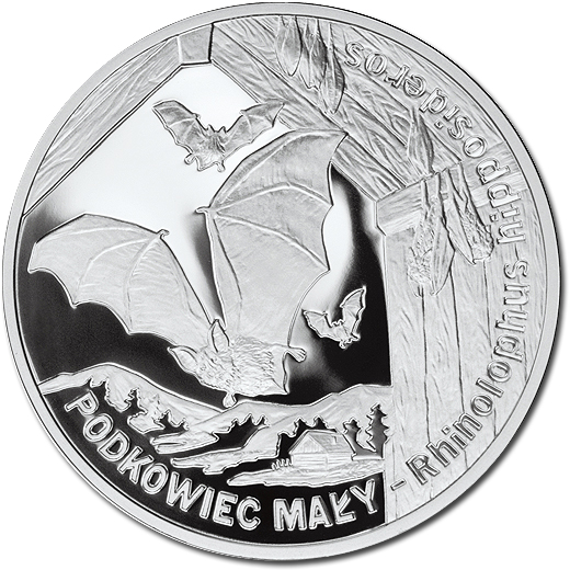 The 2010 Lesser Horseshoe Bat Silver Proof Coin from Poland