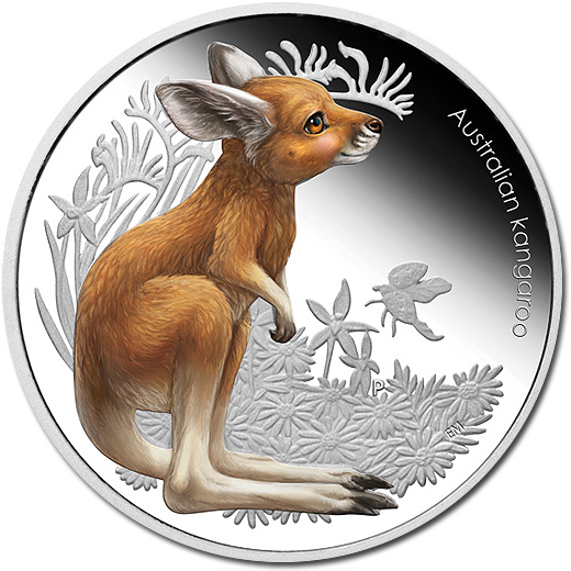 The 2010 Baby Kangaroo Silver Proof Coin from Australia