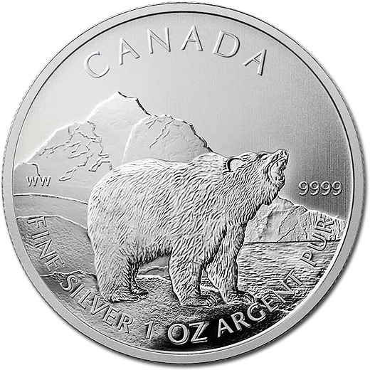 The 2011 Grizzly Bear 99.99% Silver Bullion 5-Dollar Coin from Canada