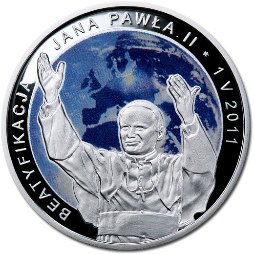 The Beatification of John Paul II Silver Proof 2011 Coin from Poland