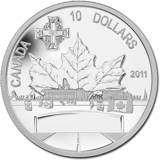 The 2011 Highway of Heroes $10 Silver Proof Coin from Canada